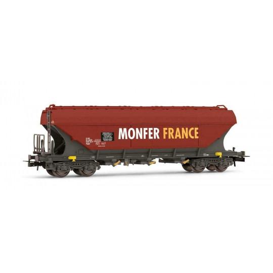 """Wagon céréalier bogies faces plates """"MONFER France"""" 1/87 - HO - JOUEF"""