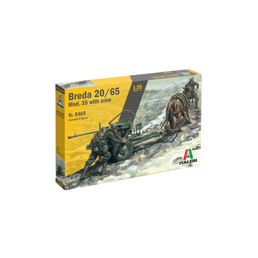 Canon BREDA 20/65 Modèle 35 avec Attelage & figurines 1/35 ITALERI