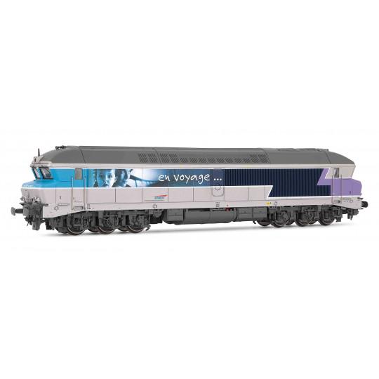 """Locomotive Diesel CC 72000 72074 """"En voyage"""" SNCF 1/87 HO JOUEF"""