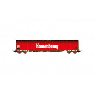 "Wagon bogies bache ""Kronenbourg SNCF 1/87 HO JOUEF"
