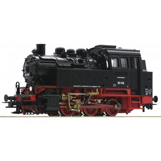 Locomotive vapeur 030 BR 80 DB 1/87  HO ROCO