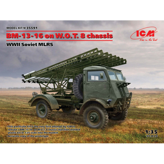 Camion Fordson BM-13-16 chassis W.O.T.8  WW2 1/35 ICM