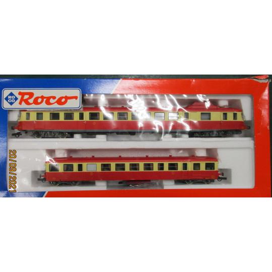 Autorail Coffret X 2800 Rouge  Remorque SNCF 1/87 HO ROCO