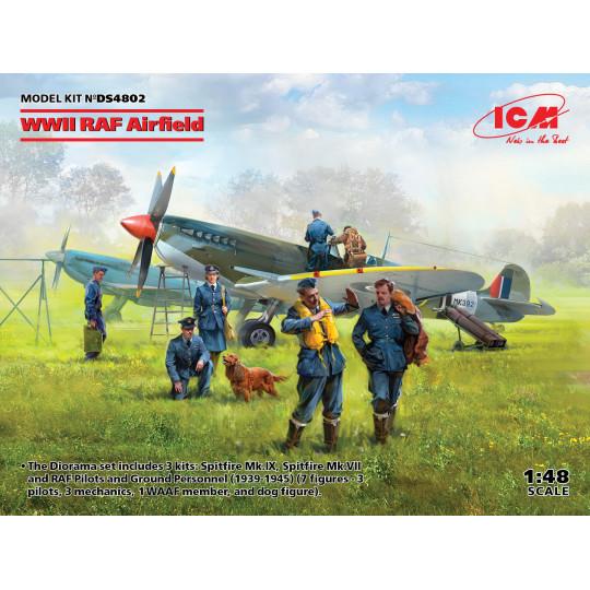 Spitfire Mk IX & Mk VII et Pilotes & Personnel sol 1/48 ICM