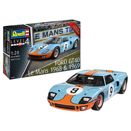 FORD GT 40 Le Mans 1968 1/24 REVELL