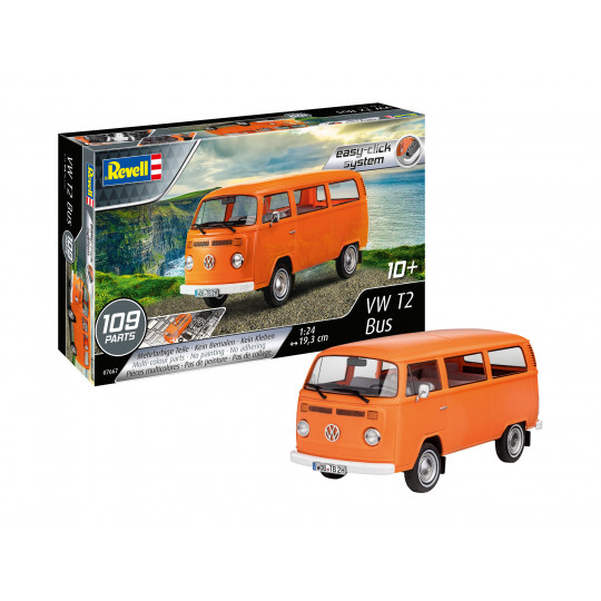 """VW T2 Bus """"Easy click"""" 1/24 REVELL"""