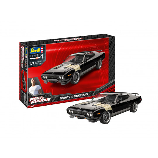 Fast & Furious Plymouth GTX 1971 Dominic 1/24 REVELL