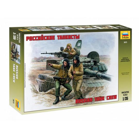 Equipage Char russe WW2 Tank crew WWII 1/35 ZVEZDA