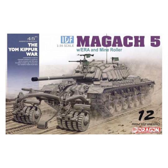 Char M60 Patton IDF Israël Magach 5 avec ERA & mine roller 1/35 DRAGON