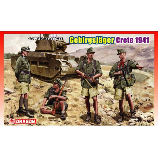 Troupe de montagne allemand WWII Crète 1941 1/35 DRAGON