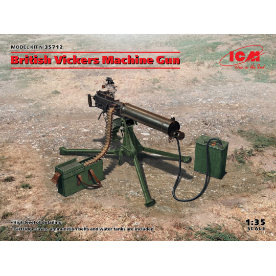 Mitrailleuse Vickers anglaise 1/35 ICM